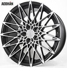 19X8.5 +40 AodHan LS001 5X112 Black Wheels Fit VW CC ROUTAN TIGUAN S SEL R-LINE