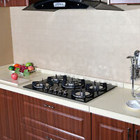 """Brand 30""""  Tempered Glass Stove Built-in 5 Burners Cooktop NG/LPG Gas Hob Cooker"""