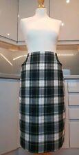 Vintage UK 16 St Michael Green Check Tartan Midi Skirt - Christmas Party Office