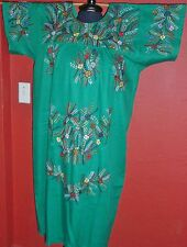 AUTHENTIC JOROCHA MEXICAN DRESS EMBROIDERED CASUAL HUIPIL TUNIC COTTON ONE SIZE