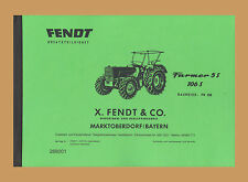 FENDT Farmer 106 Farmer 5 S Schlepper Ersatzteilliste