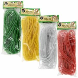Crafter's Square Seasonal Decorative Mesh Tubes-12 yd. Green, Yellow, White, Red