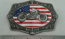 Classic Style Biker Buckle with USA Flag