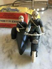 minialuxe motard side-car police en boîte