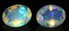 1.39 TCW 6x8 mm +2 PCS NATURAL ETHIOPIAN WELO FIRE OPAL FACETED CABS PAIR-EB167