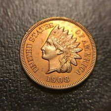 1908 S Indian Head Cent Choice Uncirculated RED Key Date MS BU UNC 1c