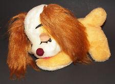 "VTG Lady & The Tramp Disney Plush 9"" Sleeping Dog Puppy Stuffed Animal Toy Girl"