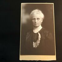 Antique Cabinet Card Photograph Yankton, SD Beautiful Older Old Woman Great Hair