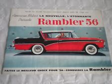 Vintage brochure AMC Rambler 56 export cataloge french language