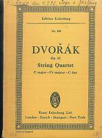 DVORAK ~ String Quartett C Dur Op. 61 - Studienpartitur