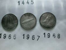 Lot 1445: CANADA Silver dimes 10 cents (3) 1966 1967 1968 FREE SHIPPING