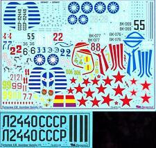 Begemot Decals 1/72 SOVIET TUPOLEV SB BOMBER FAMILY
