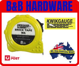 KWIKGAUGE BRICK BLOCK 8M TAPE MEASURE TAPE / BRICK TAPE BLOCK TAPE- WEST AUS
