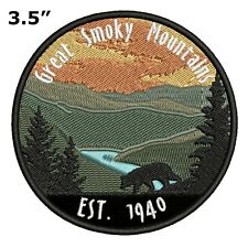 Great Smoky Mountains National Park Embroidered Patch Iron Sew-On Gear Applique