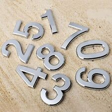 Modern Number Plate Address Color Silver Plastic Door Sticker House Sign Hotel