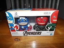 THE AVENGERS MINI MUGGS, CAPTAIN AMERICA AND RED SKULL FIGURES, NIB, 2011