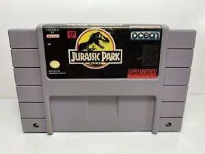 Jurassic Park -- SNES Super Nintendo Authentic Original Game TESTED GUARANTEED