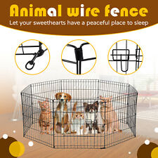 New listing 24 inch Pet Dog Playpen Crate Fence Pet Play Pen Exercise Cage -8 Panel
