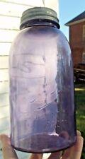 NICE PURPLE DREY PERFECT MASON FRUIT JAR W/LID HALF GALLON 1910'S ERA CLEAN L@@K