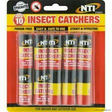 10 X FLY CATCHER PAPER STICKY GLUE INSECT BUG TRAP KILLER STRONG ROLL TAPE STRIP