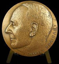 Médaille à l'écrivain Charles Braibant Le Roi dort prix Renaudot 1933 Medal