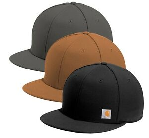 Carhartt Mens Ashland Hat Flat Bill Adjustable Cap - Choose Color