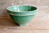Vintage Green crock Stoneware Bowl