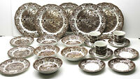 22 pc J. & G. Meakin Staffordshire Ironstone Dinner+Bowl+Dessert+Saucer+Tea Cups
