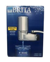 Brita Easy 1 Click Faucet Mount Water Filtration System Chrome