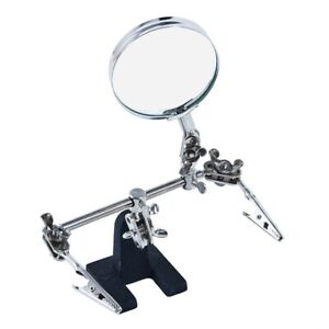 HELPING HAND MAGNIFIER MAGNIFYING GLASS CLAMP SOLDERING STAND CRAFT MAKE HOLD OK