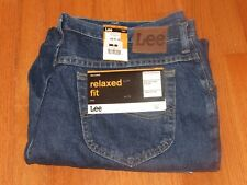 NEW Tags Men's LEE Medium Blue Relaxed Fit Denim Cotton Jeans in Size 41 x 31