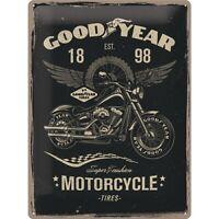 Goodyear Motorrad Nostalgie Blechschild 40 cm NEU  Tin sign shield