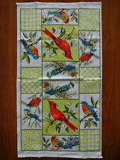 Parisian Prints Linen Tea Towel with Cardinals & Other Birds
