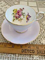 Vintage Paragon Floral Bouquet England Cup & Saucer  SKU 072-014