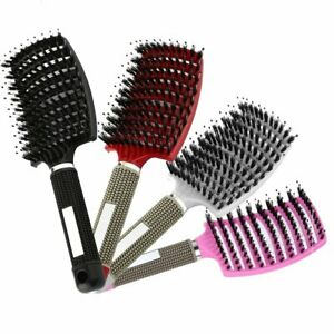 Hair Brush Scalp Massage Comb Bristle Nylon Detangle Hairdressing Styling Tools