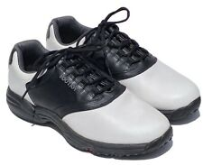 FootJoy Soft Spikes Golf Shoes, Men's, Size 10-1/2, Black and White, Pre-Owned