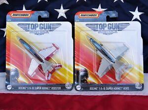 2 Matchbox 2020 Top Gun Boeing Maverick F/A-18 Super Hornet Hero & Rooster