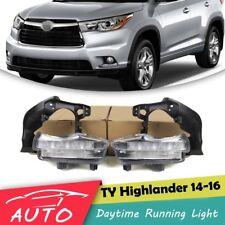 Pair DRL For Toyota Highlander 2014 2015 2016 LED Daytime Running Light Fog Lamp
