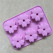6-cavity Cherry Flower Cake Mold Soap Silicone Mold Flexible Chocolate Mold
