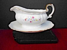 EDELSTEIN BAVARIA GERMANY GRAVY BOAT BEIGHTON 20079A GOLD TRIM PRE-OWNED