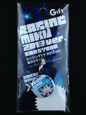 Hatsune Miku Racing Miku 2013 ver. 32mm Can Strap Key Chain Gift Vocaloid New