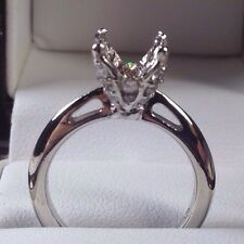 Designer Ritani SOLITAIRE DIAMOND EMBELLISHED PRONG ENGAGEMENT RING 950 Platinum