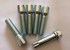 5 X M14X1.25 60° ALLOY WHEEL TUNER BOLTS + KEY 50mm THREAD FOR BMW F07 F10 F11