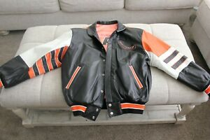 One of a Kind - Omaha Lancers - Men's Medium Leather Coat - by Jeff Hamilton