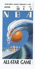 1990 NBA All Star Game Ticket Stub Miami