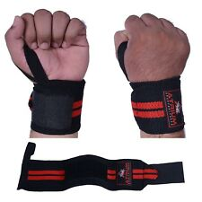 "ATRIUM 12"" WRIST STRAPS HEAVY DUTY TRAINNING POWERLIFTING BODYBUILDING GYM Gear"