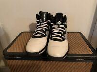 Adidas Men's Sprint Web Tech Fit High Top Shoes, Black, Gray & White, US Size 13
