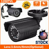1200TVL Bullet Camera Security CCTV System Analog IR Night Vision Surveillance