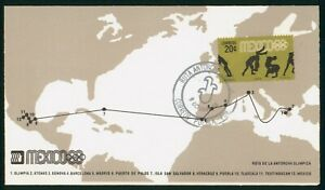 MayfairStamps Mexico 1968 Olympic Torch Route Cover wwp80607