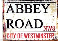 ABBEY ROAD METAL SIGN  RETRO VINTAGE STYLE London,shop, bar garage,shed,pub,